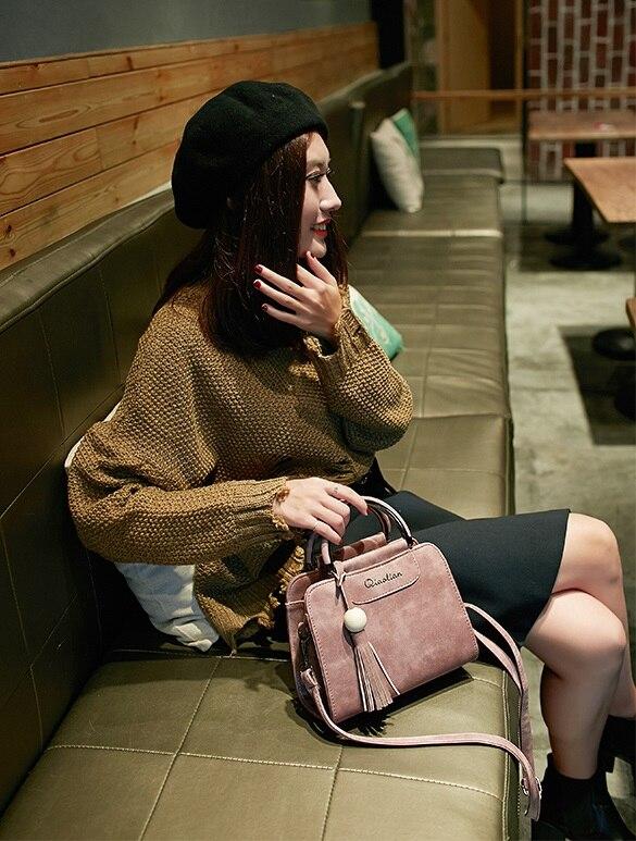 Gray Tracolla Messenger black Delle Borsa Red Pink Donna Nappa skin Borse Coreana Donne Semplice A 2018 Nuove Tendenza Modo Flap wine Versione Di P7cBE6TU