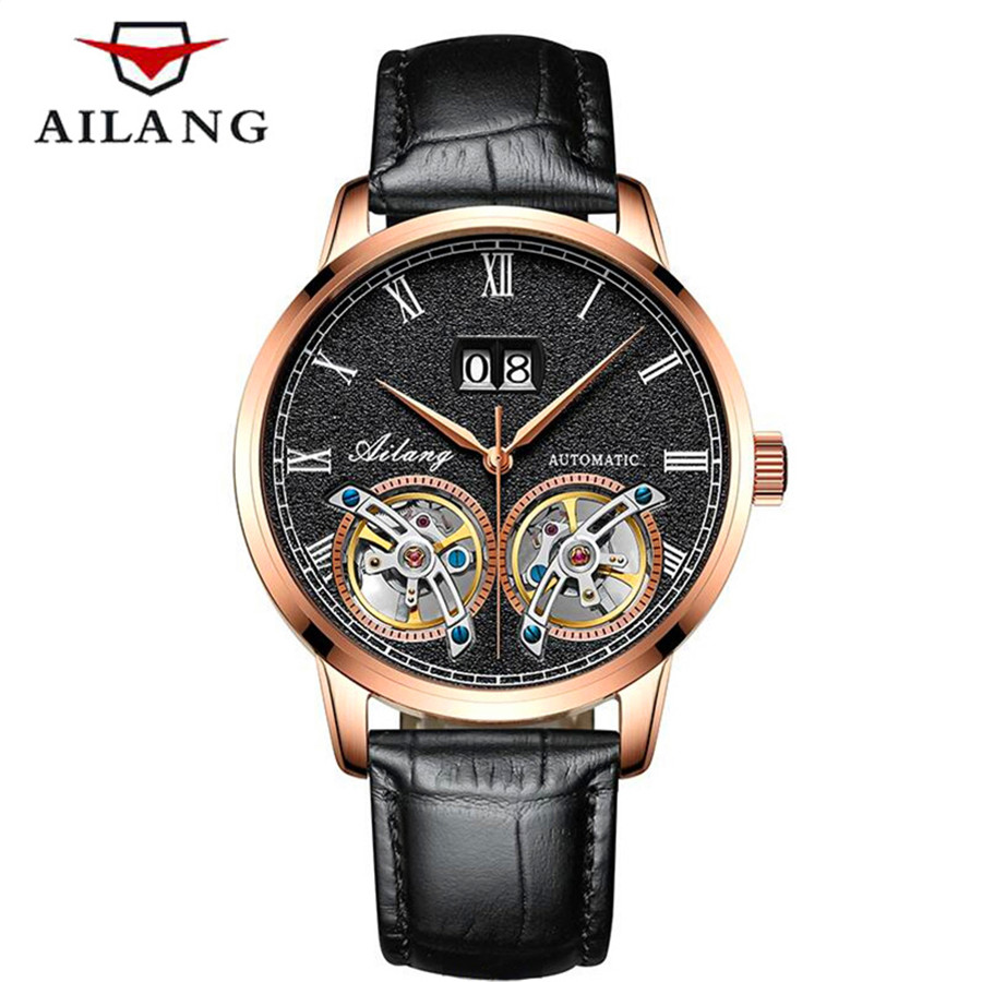 AILANG Automatic Mechanical Luxury Men Wristwatch Fashion Casual Tourbillon Watches Genuine Leather Straps Top Brand ClockAILANG Automatic Mechanical Luxury Men Wristwatch Fashion Casual Tourbillon Watches Genuine Leather Straps Top Brand Clock