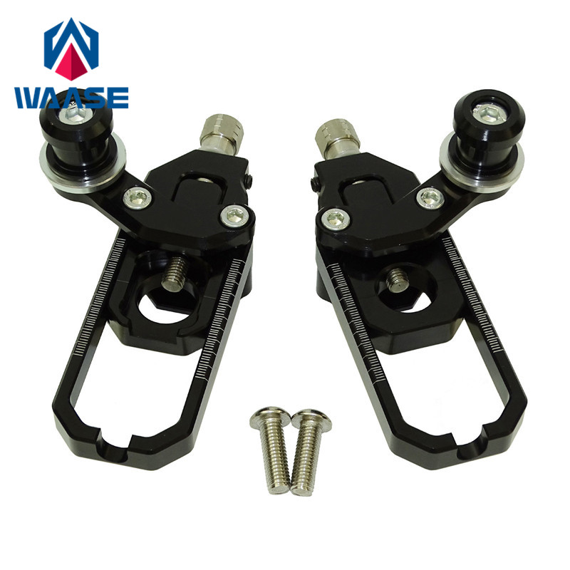 waase Motorcycle Left & Right Chain Adjusters with Spool Tensioners Catena For Kawasaki Ninja ZX-10R ZX10R 2008 2009 2010 diamond tufted french contemporary modern leather sleeping bed king size bedroom furniture made in china
