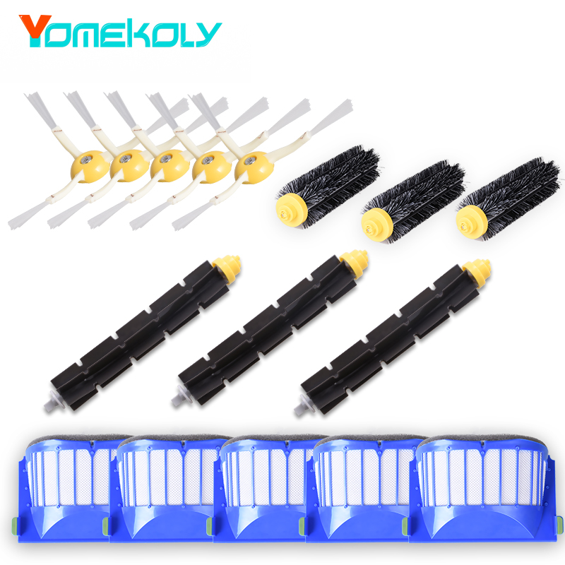 Filters and Brushes Replacement Kit for iRobot Roomba 500 600 Series (585 595 620 630 650 660 680 690) Vacuum Cleaning Robots vacuum cleaner accessory kit roomba 500 551 536 accessory kit replacement includes 1 battery 3 side brush 3 filters