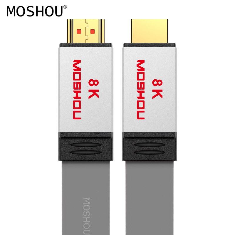 HDMI кабели 2,1 Усилитель UHD 8K 60Hz динамический HDR 4:4:4 4K 120Hz 48Gps HDCP2.2 с ARC Аудио Видео 1M 1,5 M 2M 5M 10M 15M MOSHOU