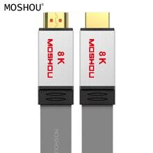 كابل HDMI 2.1 مضخم صوت UHD 8K 60Hz ديناميكي HDR 4:4:4 4K 120Hz 48Gps HDCP2.2 مع قوس الصوت والفيديو 1 متر 1.5 متر 2 متر 5 متر 10 متر 15 متر MOSHOU
