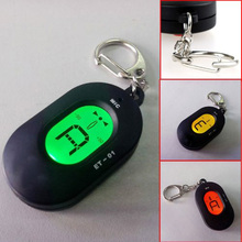 Wholesale 5X 5*2.8*1cm /2*1.1*0.4in Black Mini Key Ring LCD Digital Chromatic Tuner with Mic