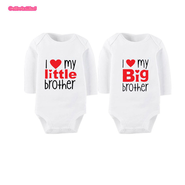 Culbutomind Twin Clothes I Love My Little Sister Big Brother Newborn