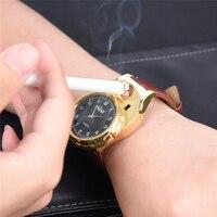Хуай Перезаряжаемые USB часы с зажигалкой Беспламенного ветрозащитная Зажигалка Для мужчин часы erkek коль saati reloj мужские наручные часы 47