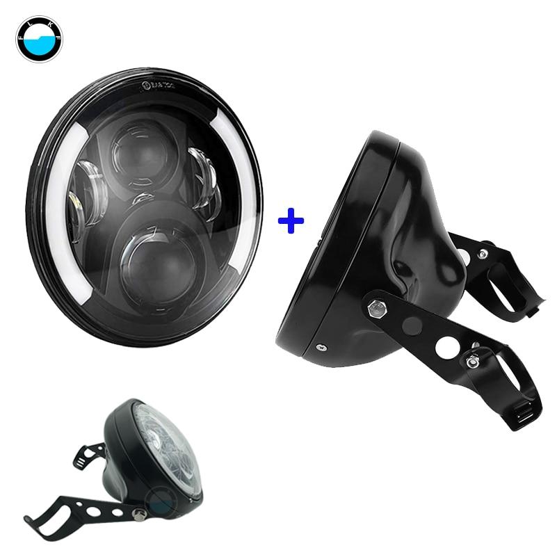 7 Inch 60W DOT SAE E9 Motorcycle Headlamp with angle eye Led Headlight 7inch housing bucket trim ring.7 Inch 60W DOT SAE E9 Motorcycle Headlamp with angle eye Led Headlight 7inch housing bucket trim ring.