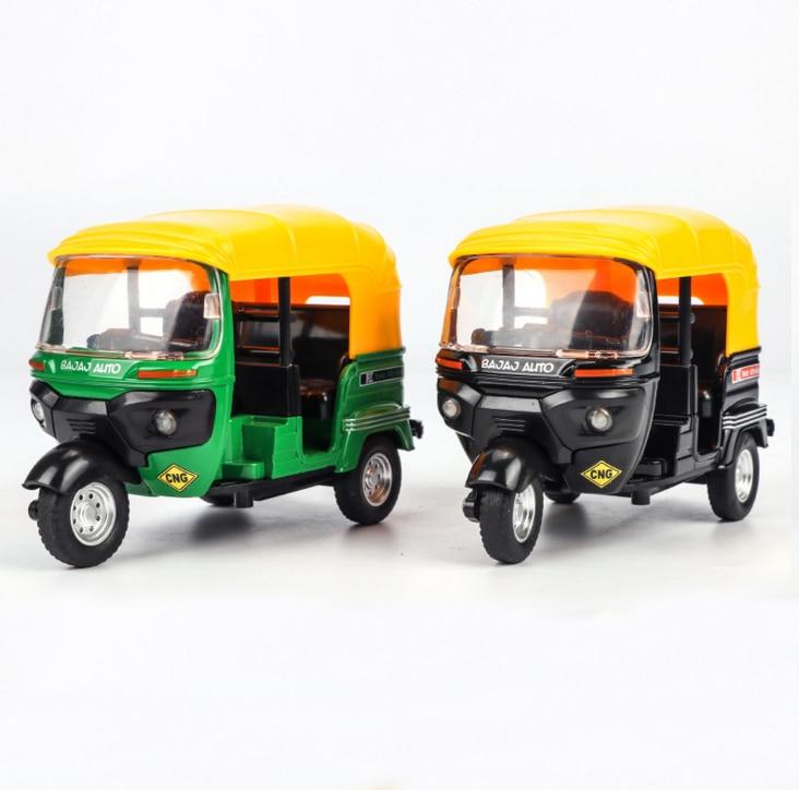 Индийские трехколесный велосипед с высокой имитацией, игрушечный автомобиль, индийский Тук-Тук, такси, вытяните заднюю крышку, звук, игрушки для мотоцикла, автомобиль для детей, подарки