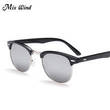Mix Wind Sunglasses  Retro Polarized Sunglasses Men Women Brand Designer Half Metal G15 Coating Club Sun Glasses Fashion Oculos