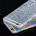Luxury PVC Bling Glitter Rhinestone Full Body Sticker Skin Case Cover+HD Screen Protector Film For Iphone 6 6S 6P Plus Sparkly