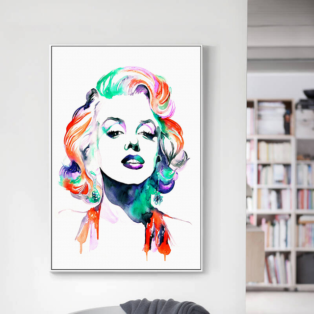 Watercolor Marilyn Monroe Canvas Posters And Prints Canvas Art