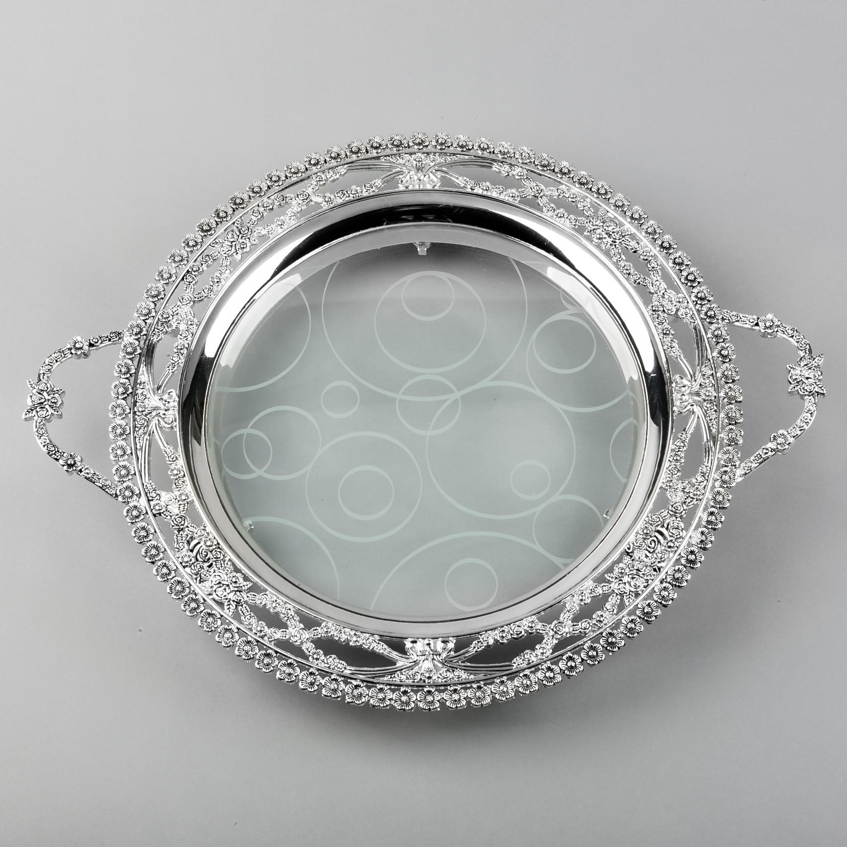 Accessoires de décoration de banquet royal de mode exquis teaberries qualité décoration de la maison assiette de fruits ronde