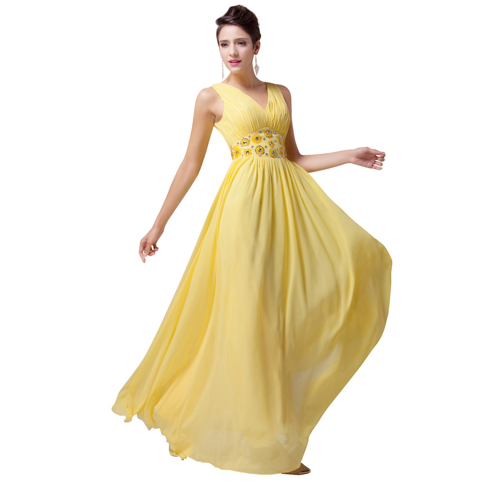 Aliexpress Com Buy Vestidos Para Madrinas De Boda Yellow