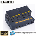 Full HD1080P HDMI 1.3 1x4 HDMI Splitter Extender 1 Transmitter and 4 Receiver Over Cat5e/6 Up to 60m Support 3D ,HDCP 1.2 ,EDID