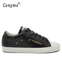 CANGMAดีลักซ์ชายรองเท้าสีดำจระ