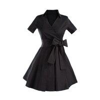 Kobiety Sukienka Moda W Stylu Vintage Tunika Casual Letnie Połowy Łydki Długie Huśtawka Sukienki Dla Pani Elegancka Odzież