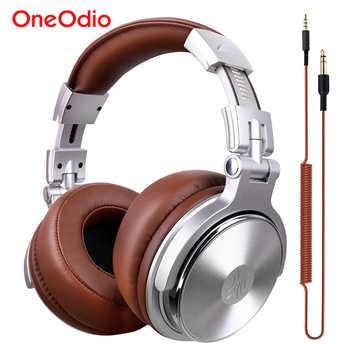 Oneodio auriculares estudio profesional dinámico auriculares de DJ en estéreo con micrófono de alta fidelidad auriculares con cable de control para la música del teléfono