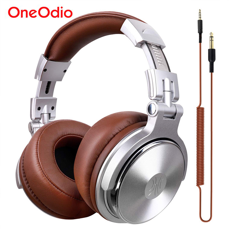 Oneodio <font><b>Headphones</b></font> Professional Studio Dynamic Stereo DJ <font><b>Headphone</b></font> With Microphone HIFI Wired Headset Monitoring For Music Phone