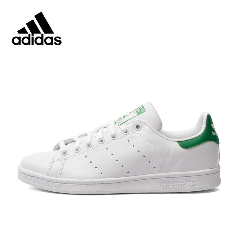 Novedad Original auténtico ADIDAS hombres mujeres Stan Smith Skateboard zapatos transpirable estabilidad alta calidad ligero