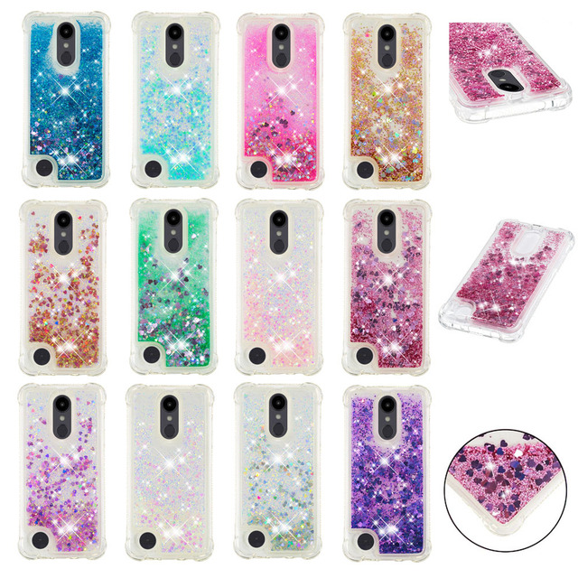 the latest 1a76d 011ec US $3.85 8% OFF|HYYGEDeal Phone cases Glitters Girls Bling liquid Quicksand  TPU Shockproof case for LG Aristo 2/K8 2018/Aristo 2 Plus/V3 2018-in ...