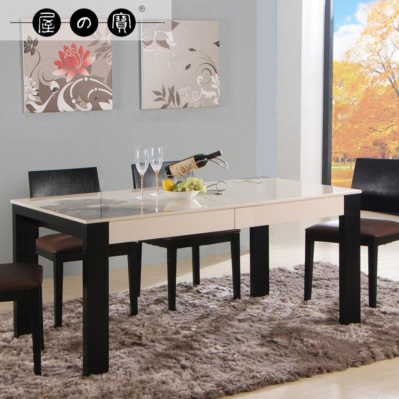 Moderno minimalista tesoro de mármol natural mesa de comedor y sillas y sillas combinación de rectangular.jpg