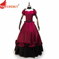 Costumebuy French Noble style Vintage Bustle Handmade Victorian Dresses Lolita Gothic Steampunk Medieval Costume Dresses