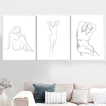 Abstract Minimalist Sexy Girl Body Line Wall Art Canvas Painting Nordic Posters And Prints Wall Pictures For Living Room Decor