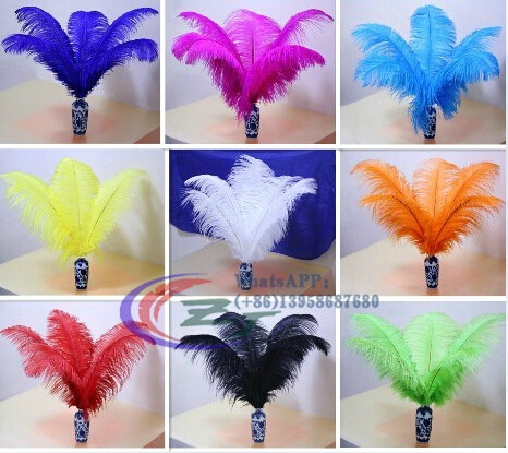50pcs/lot 50-55cm Hard Rod  Ostrich Feathers Fuschia Feather For Craft Ostrich Plumes Wedding Party Decoration 20-222inches