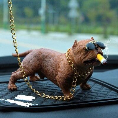 Yesplease Car Interior Accessories Ornaments Dog Car Decoration Creative Personality High Grade Car Fashion Simulation Dog Doll