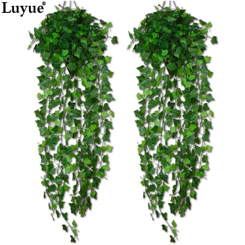 Luyue Artificial Ivy Leaf Garland Plants Vine Fake Foliage Flowers Home decor 7.5 feet1.jpg