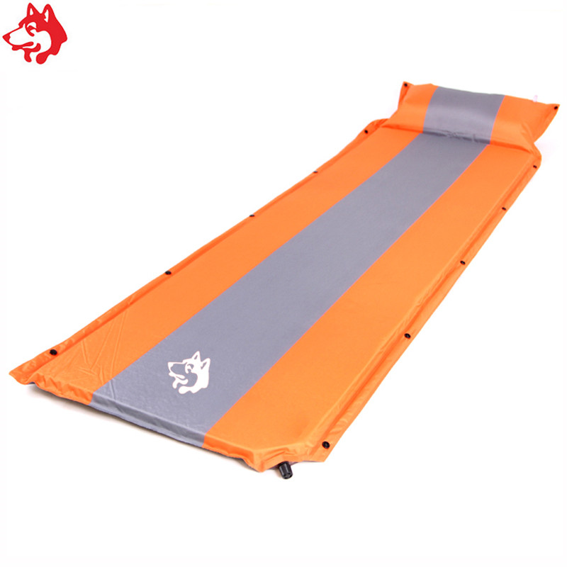 single people automatic inflatable mattress outdoor mat easy portable moisture-proof camping hiking trekking sleeping pad