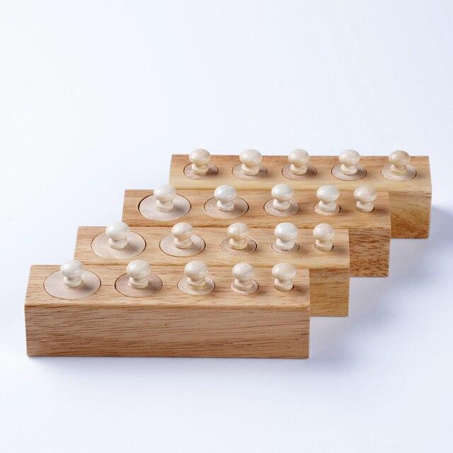 Bébé Jouet Montessori Cylindres 4 Blocs Sensorielles Préscolaire Formation de La Petite Enfance L'éducation Brinquedos Juguetes