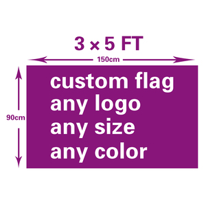 high quality Custom Flag And Banners For 150X90cm 100D Polyester all logo all color flag Advertising Banner(China)