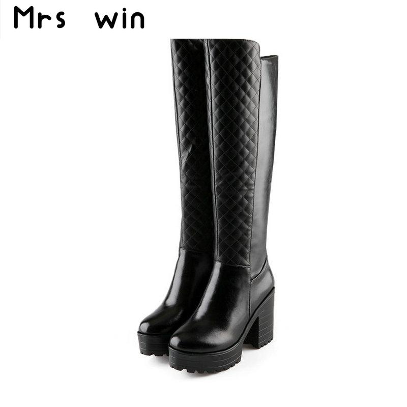 Tall Black Heel Boots Promotion-Shop for Promotional Tall Black ...