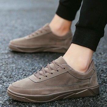 2b425ab8b CPCOOK Homens Sapatos Casuais Sólidos Lace Up Sneakers Moda Masculina  Calçados Masculinos Preto Krasovki Primavera Outono Homem Sapatos Zapatos  Hombre