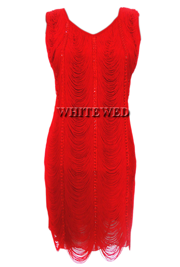 S Cly Modest 20s Era 1920s Style Charleston Fringe Fashion Vintage Formal Party Fler Dress Costumes For To In Dresses From Women