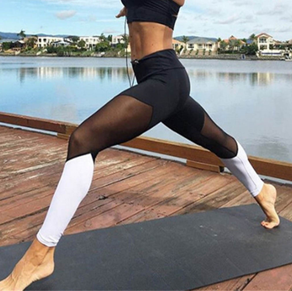casual-leggings-women-fitness-leggings-color-block-spring-summer-workout-pants-new-arrival-mesh-insert-leggings