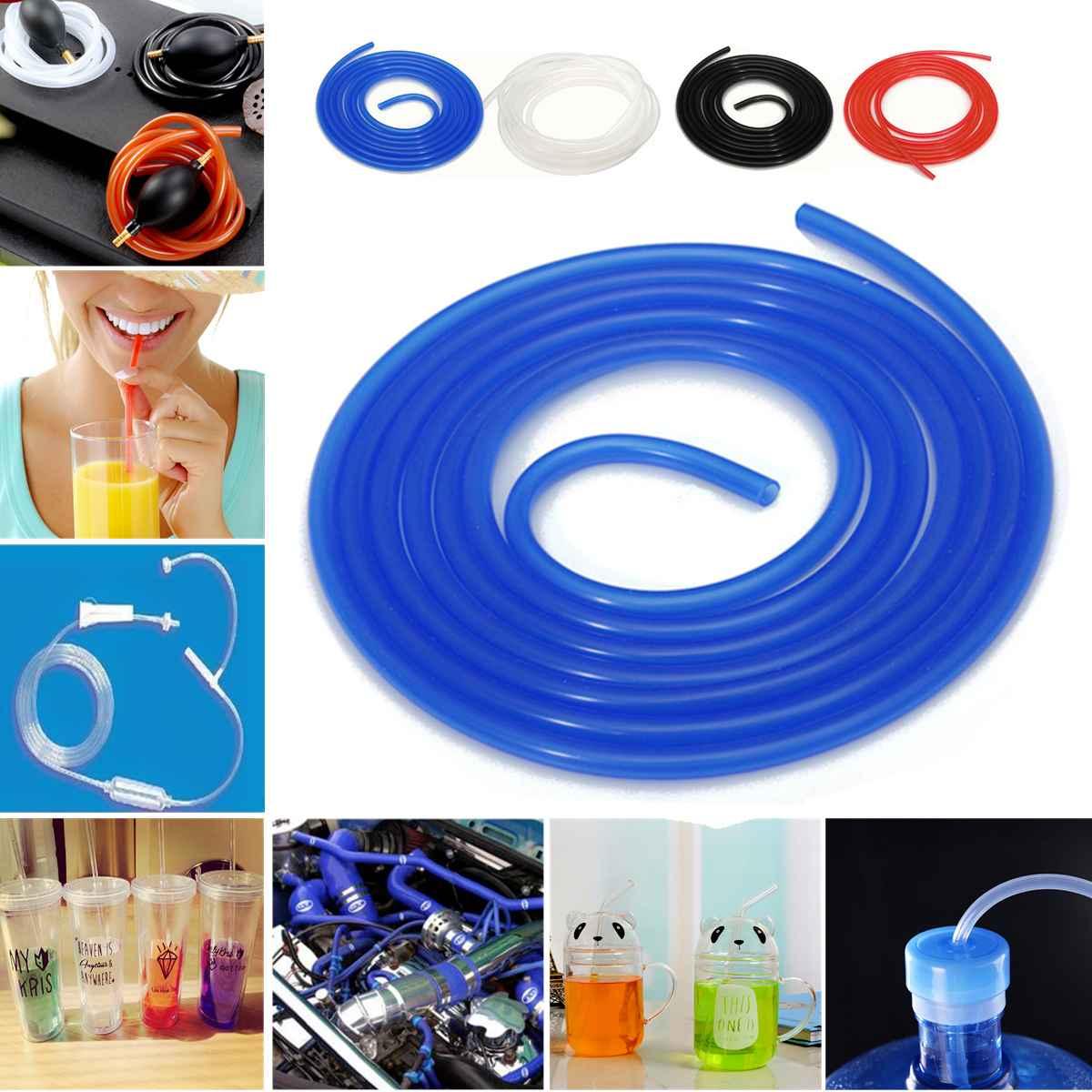 Manguera de refrigerante de silicona recta 3 metros de longitud Intercooler Pipe ID 3mm 4mm 5mm 6mm 10mm rojo/azul/Negro/translúcido