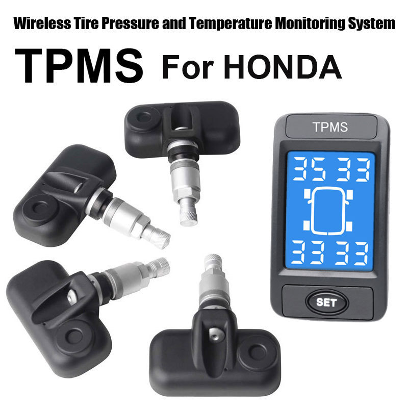 Wireless Tire Pressure Monitoring System Car TPMS for Honda with 4pcs Internal sensor
