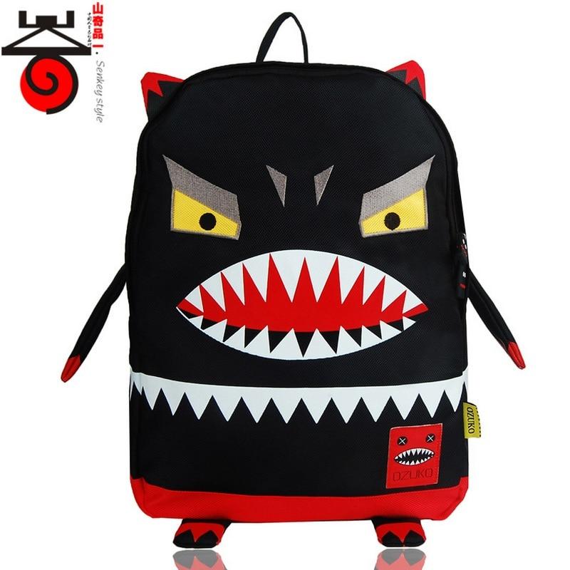 Youth Hip Hop Cartoon Expression Canvas Rucksack Backpacks For Teenage Unisex Knapsack Men School bag Couples