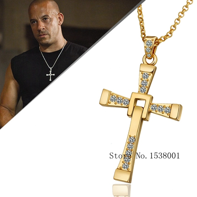 Womens mens solid yellow gold gp jewelry cross pendant cool chain womens mens solid yellow gold gp jewelry cross pendant cool chain necklace gift aloadofball Gallery