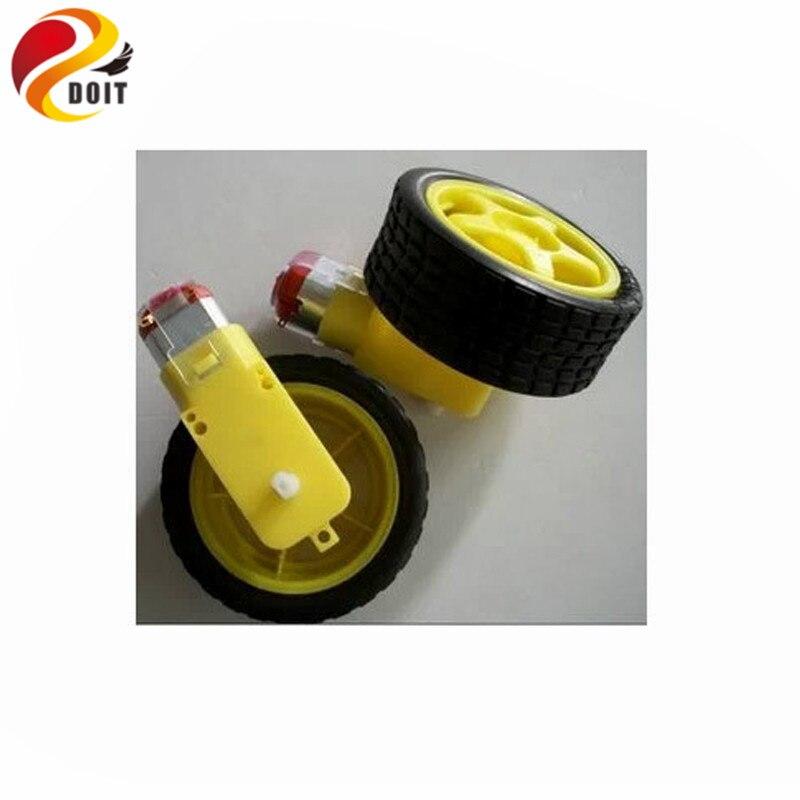 Oficial DOIT DC Biaxial Reducción de Motor Del Engranaje de la Rueda del Neumáti
