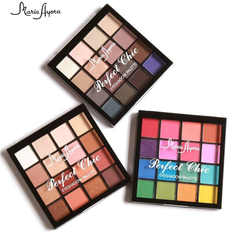 MARIA AYORA 1pcs Maquiagem Kit Sombra de Longa Duração Pigmento Quente Matte Shimmer Em Pó Da Terra 16 Cores Paleta Olhos Sombra