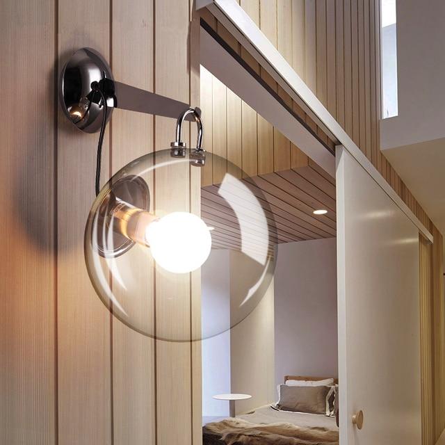 LED salon appliques nordique éclairage chambre applique murale verre ...
