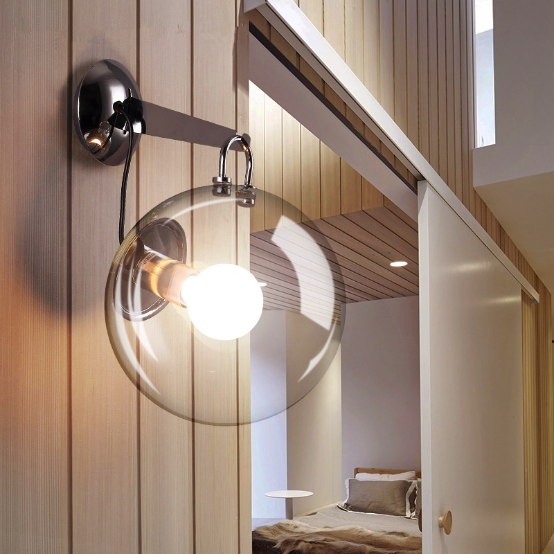 unique novelty led wall lamps glass ball wall lights for home Living room bedroom novelty led wall lamps glass ball wall lights for home decor e27 ac220v