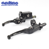 QXMOTOR Logo CNC Folding Brake Lever ASV Clutch Lever With Front Pump Fit CRF KLX YZF RMZ Motorcycle Dirt Bike Motocross Part