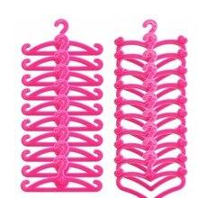 20 Pcs Pink Hangers for Barbies Dolls' Clothes Accessories Plastic Hangers plastic hangers 5pcs