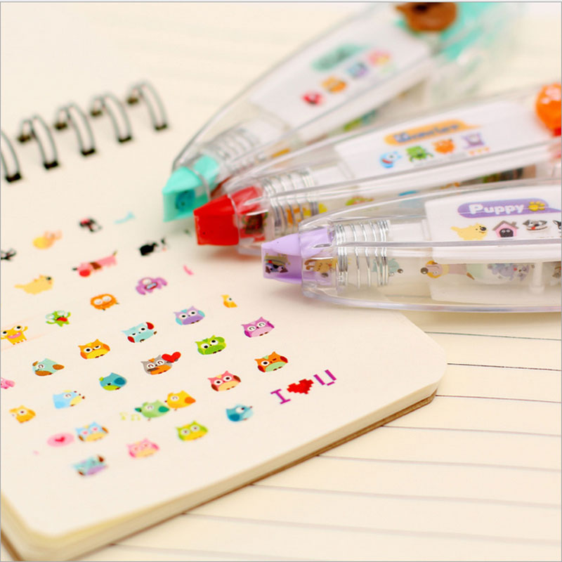 1x Cute Correction Tape Kawaii Stationery For Student School Supplies DIY Scrapbooking Stickers Creative Fluorescence Stationery