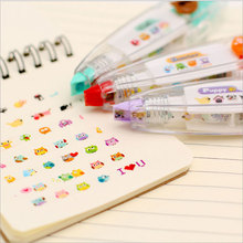 1x cute correction tape kawaii stationery for student school supplies DIY Scrapbooking Stickers creative fluorescence