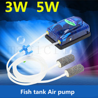 Aquarium  Air Pump 3w 5w Fish Tank Increasing Oxygen Pump  Ultra Silent Air Compressor For Aquarium Fish Accessories|Air Pumps & Accessories| |  -