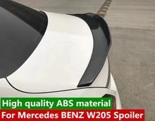 цены For  Benz W205 C200L C260L C180L  PSM style spoiler ABS Material Car Rear Wing 4 doors Primer Color spoiler  2014-UP